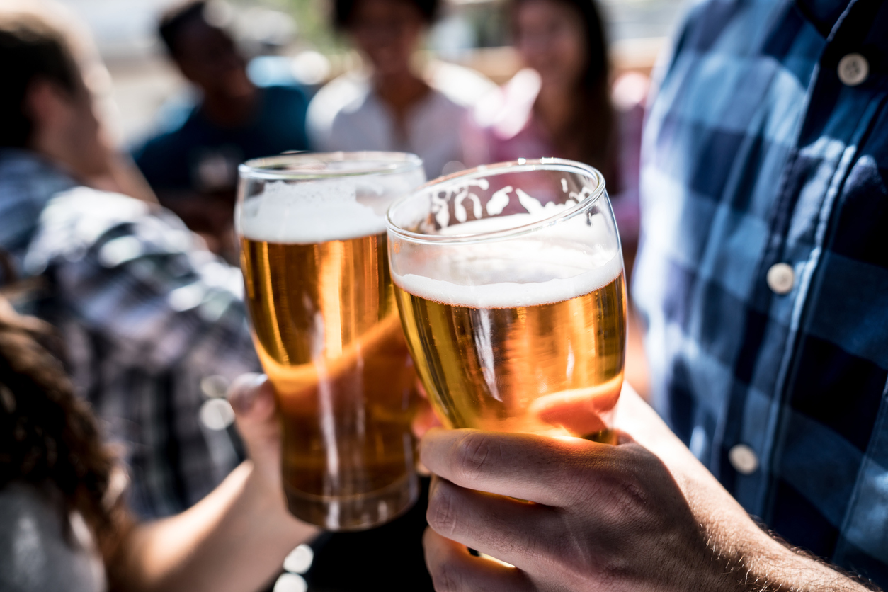 Beer in the Woods event from two itasca place apartments